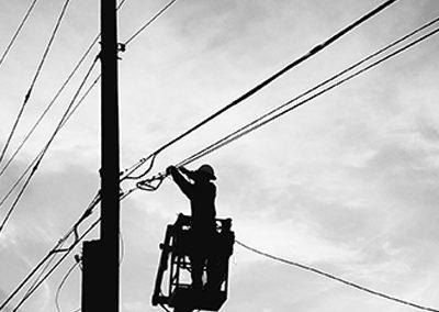 lineman repairing lines