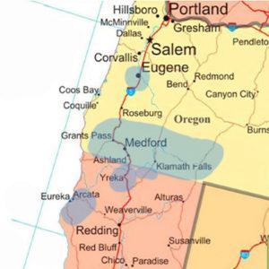 Hunter's service area map