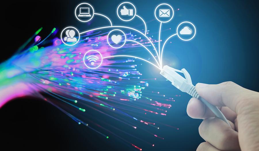 fiber-optic internet connecting iot